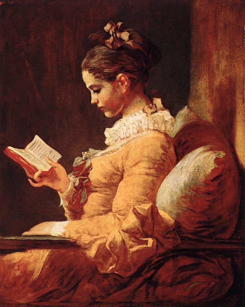 Жан оноре фрагонар девушка с книгой